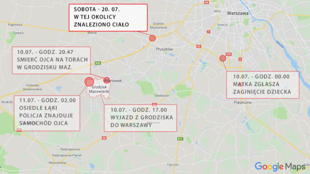 Zaginięcie 5-letniego Dawida tvn24.pl / GoogleMaps