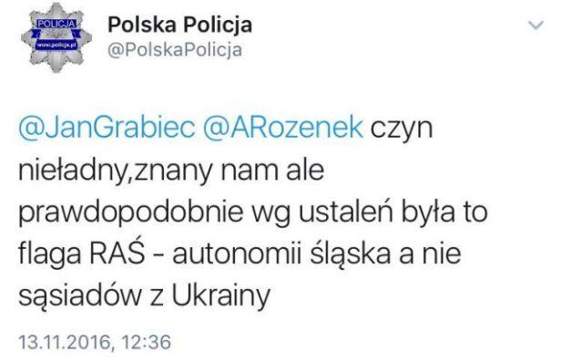 Tweet został skasowany z profilu policji Twitter @Polska Policja