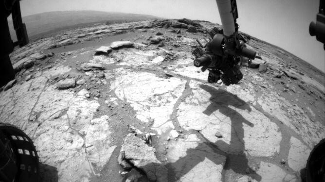 Curiosity na miejscu. Tu po raz drugi wwierci się w Marsa