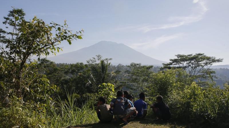 Wulkan Agung daje o sobie znać (PAP/EPA/MADE NAGI)