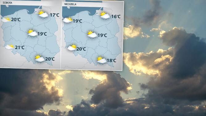 Weekend przyniesie ochłodzenie i przelotne opady deszczu