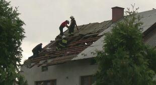 Zniszczenia w miejscowości Jodłówka-Wałki